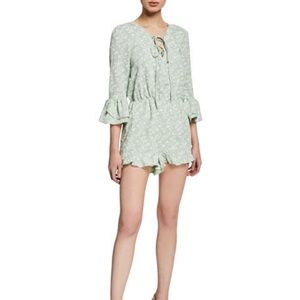 J.O.A. Floral Lace-Up Romper size xs